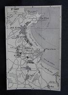 Plan Ancien De La Ville De Saint-Cast, (Côtes-d'Armor), Datant De 1953. - Cartes Géographiques