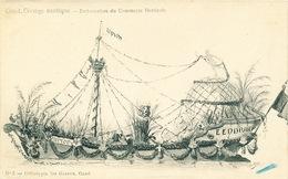 035/30  GAND  - Carte  Illustrée  Cortège Nautique - Embarcation Du Commerce Horticole. No 5 - Gent