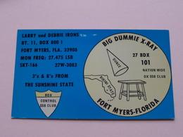 Fort MYERS FLORIDA ( BDX ) Larry And Debbie IRONS 19?? ( Zie Foto Voor Details ) - Radio Amateur