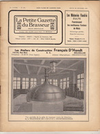 Revue LA PETITE GAZETTE DU BRASSEUR Bière Brasserie 1935 - Autres Collections