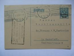 GERMANY - 1920 Postcard - Nurnberg To Darmstadt - Germany