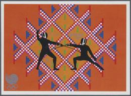 ** Thematik: Sport-Fechten / Sport-fencing: 1989, BHUTAN: Summer Olympics Seoul 'FENCING' In An Imperfo - Fencing
