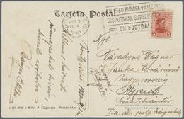 "Br Thematik: Sport-Fußball / Sport-soccer, Football: 1930, Uruguay. Special Cancel ""EN 1930 EUROPA Y AM - Soccer"