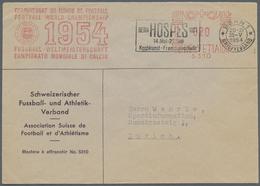 """Br Thematik: Sport-Fußball / Sport-soccer, Football: 1954, Schweiz. Verbandsbrief """"Schweizerischer Fuss - Soccer"""