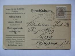 GERMANY - 1920 Leipzig - `Verein Fur Die Cefchichte Leipzig` - Allemagne