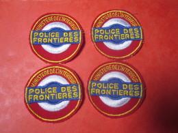 4 ECUSSONS MINISTERE DE L INTERIEUR POLICE DES FRONTIERES DOUANE - Police & Gendarmerie