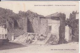 CPA -  SAINT GUILHEM LE DESERT - Ruines De L'église Saint Laurent - Frankrijk