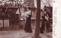 D - SALON 1913 - Peintre J. PAGES ..sur Les Quais - Bouquiniste - Femme Tenant Un Caniche Sur Les Bras - Notre Dame - Expositions