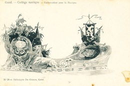 036/30  GAND  - Carte  Illustrée  Cortège Nautique - Embarcation Pour La Musique. No 20 - Gent