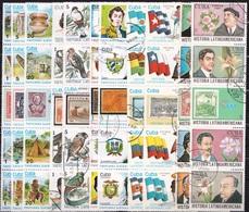 Cuba 1986-1990 Historia Latino America 5 Sets 1986 / 1990 - Cuba
