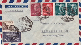 Brief Von Alicante Nach Deutschland (br2999) - 1951-60 Briefe U. Dokumente