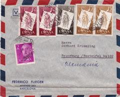 Brief Von Barcelona Nach Deutschland (br3002) - 1951-60 Briefe U. Dokumente