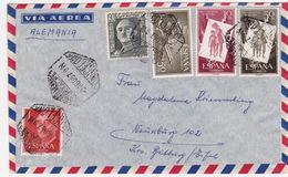 Brief Von Barcelona Nach Deutschland (br3004) - 1951-60 Briefe U. Dokumente