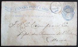 CANADA Entier Postal / Postal Stationary - Post Card - See Reverse Side * SOCIETE DE COLONISATION DU LAC TEMISCAMINGUE * - Oblitérés