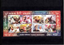 INDIA 2014 Indian Musicians MINIATURE SHEETS MNH  Sheet / Block MNH - Ongebruikt