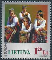 Mi 664 ** MNH CEPT Europa Feast & Holiday Costumes Song Festival - Lithuania