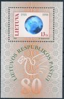 Mi Block 14 ** MNH Lithuanian Post 80th Anniversary Hologram - Lithuania