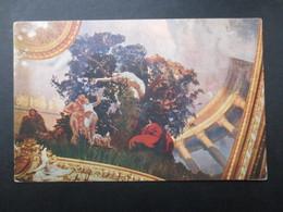 CP ARTS (V1707) ALBERT BESNARD (2 Vues) Fragment Du Plafond De La Comédie Française 3 - Peintures & Tableaux