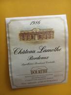 6776 - Château Lamothe 1986 Mise Spéciale Pour Lufthansa 187ml - Bordeaux