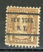 USA : -  COURANT - N° Yvert 231 Obli.  NEW YORK  N.Y. - Vorausentwertungen