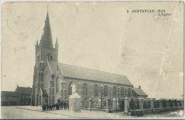 FurnAertrycke - Kerk  (met Kreuken)  -   1925   Naar  Sas - Slijkens - Zedelgem