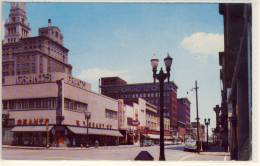 DAVENPORT IOWA SECOND STREET SHOPPING DISTRICT 1956 AIR MAIL - Davenport