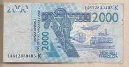 Senegal - Banconota Circolata Da 2000 Franchi CFA P-716 Kk- 2014 - Sénégal