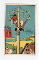 CPA Illustrateur Benjamin Rabier Publicité Alcool De Menthe Ricqlès Enfant Jeu Mas De Cocagne 1908 - Rabier, B.