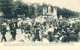 047/30  BRUXELLES  - Carte -  Vue  25è Anniversaire De La Maison Du Peuple - Char De La Coopération Socialiste. No 20 - Fêtes, événements