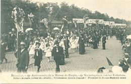 048/30  BRUXELLES  - Carte -  Vue  25è Anniversaire De La Maison Du Peuple - Enfants Du Peuple, Portant Des Corbei. No 8 - Fêtes, événements