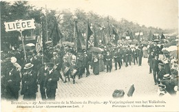 049/30  BRUXELLES  - Carte -  Vue  25è Anniversaire De La Maison Du Peuple - Délégations  Ds Liège. No 3 - Fêtes, événements