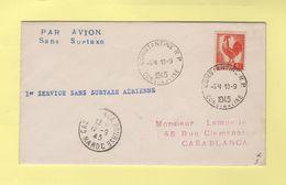 Constantine - 1er Service Sans Surtaxe - Algérie Maroc - 1945 - Type Coq - Lettres & Documents