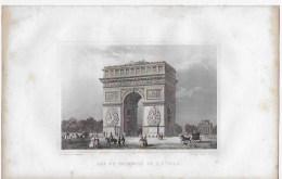 Lithographie ,Paris ,arc De Triomphe De L'étoile - Lithographies