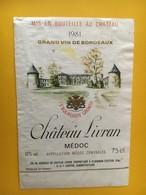 6794 - Château Livran 1981 Médoc - Bordeaux