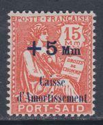 Port-Saïd N° 86  X  Au Profit De La Caisse D'Amortissement, + 5 M. Sur 15 M. Trace De Charnière Sinon TB - Nuovi