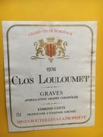 6798 - Château Clos Louloumet 1976 Graves - Bordeaux