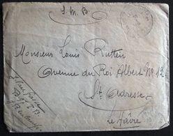"""SERVICE MILITAIRE 1916 - B 97 TB - Belgische Soldaat """" En Campagne In Beaucamp """" > Saint Adresse - Le Havre - MET INHOUD - 1914-18"""