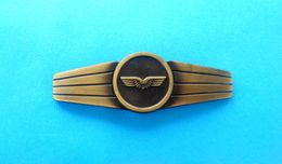UNKOWN AIR FORCE METAL PILOT WINGS PIN BADGE ... Large Size ... Germany ???  *** Aviation Luftwaffe Aeronautica Militare - Aviation