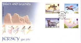 Jersey 1997 - FDC Europa CEPT, Storie E Leggende, 4v - Jersey
