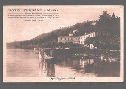 Meina - Lago Maggiore - Hotel Verbano - Carta Pubblicitaria - Novara