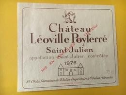 6809 - Château Léoville Poyferré 1976 Saint-Julien - Bordeaux