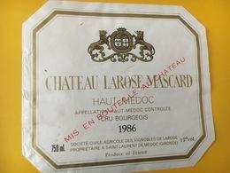 6815 - Château Larose Mascard 1986 Haut-Médoc - Bordeaux