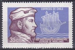 Chile 1971 Geschichte History Persönlichkeiten Forscher Entdecker Schiffe Ships Magellan, Mi. 758 ** - Chile