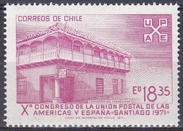 Chile 1971 Organisationen Postwesen Postverein Postdiest Postal Service Bauwerke Architektur, Mi. 764 ** - Chile
