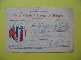 Carte Postale  De Franchise Militaire Du 29/12/1915 à 6 Drapeaux  Destinataire à Boulogne Sur Mer - Cartes De Franchise Militaire