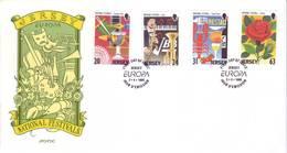 Jersey 1998 - FDC Europa CEPT, Festival E Feste Nazionali, 4v - Jersey