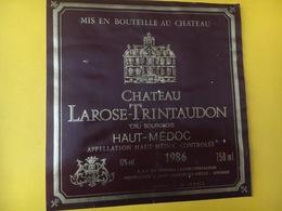 6823 - Château Larose-Trintaudon 1986 Haut-Médoc - Bordeaux