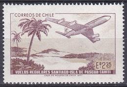 Chile 1971 Transport Verkehr Flugzeuge Aeroplanes Avion Aeroplano Tahiti Osterinsel Palmen Palms, Mi. 766 ** - Chile