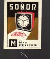 4025 CZECHOSLOVAKIA 1968 Prim Chronotechna Sternberk Sonor Alarm Clock Reloj Despertador Réveille-matin Wecker - Matchbox Labels