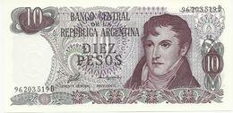 ARGENTINA 10 PESOS 1976 PICK 300 UNC - Argentina